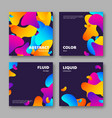 set cards with abstract liquid elements vector image vector image