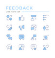 set color line icons feedback vector image vector image