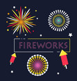 simple line fireworks graphic resource vector image