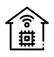 smart house phone app icon outline vector image vector image