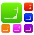 sport treadmill running road equipment set vector image vector image