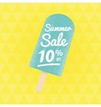 Summer Sale 10 per cent off vector image vector image