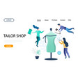 tailor shop website landing page design vector image vector image