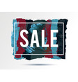 time-sale-blue-red-black vector image