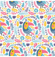 toucan bird pattern vector image vector image