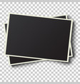 two realistic retro photo frames vector image vector image