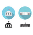 white house icons in flat and silhouette style vector image vector image
