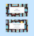window flat icons business windows vector image