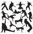 women street dance silhouettes vector image vector image