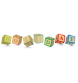 Word HOLIDAY written with alphabet blocks vector image vector image