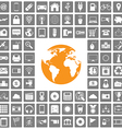 world icons web set vector image vector image