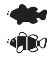 clown fish outline icon or logo vector image