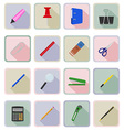 stationery flat icons 19 vector image