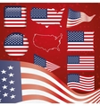 United States of America symbol set vector image