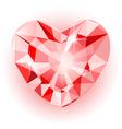 Diamond heart final vector image