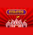 a fantasy circus banner vector image