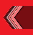 abstract red tone arrow with blank space vector image vector image