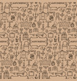 antiques doodle seamless pattern vector image vector image