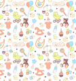 baby shower seamless pattern texture for girl vector image vector image