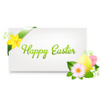 blank gift tag with egg vector image vector image
