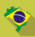 brazil cartoon flat icon landmark vector image