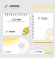 Bun logo calendar template cd cover diary and usb