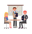 business people meeting managers at table vector image vector image
