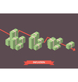 Cash money inflation concept vector image vector image