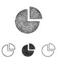 Chart icon set - sketch line art vector image vector image