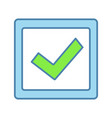 checkbox color icon vector image