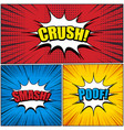 comic book pages set vector image vector image