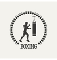 Cross training boxing logo vector image vector image