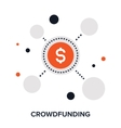 crowdfunding flat concept vector image