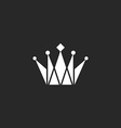 Crown black and white logo royal symbol vector image