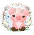 cute piglet vector image vector image