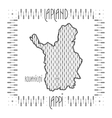 Decorative Map of Lapland vector image