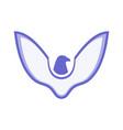 eagle abstract design logo icon concept vector image vector image