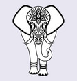 elephant with abstract flowers vector image