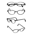 eye glasses vector image vector image
