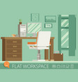 flat design of modern office interior vector image vector image