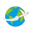 fly around the world vector image vector image