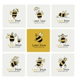 Funny bee collection sketch for your design vector image vector image