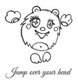 funny rounded furry monster vector image vector image