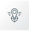 geo targeting icon line symbol premium quality vector image vector image