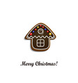 Gingerbread chocolate house vector image vector image