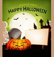 halloween holidays landscape background vector image vector image