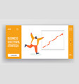 happy manager rejoice for goal achievement or vector image vector image
