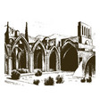 historical old building facade in verona a vector image