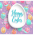 holiday easter frame vector image vector image