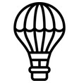 hot air balloon icon transportation related vector image